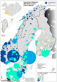 Map international migration