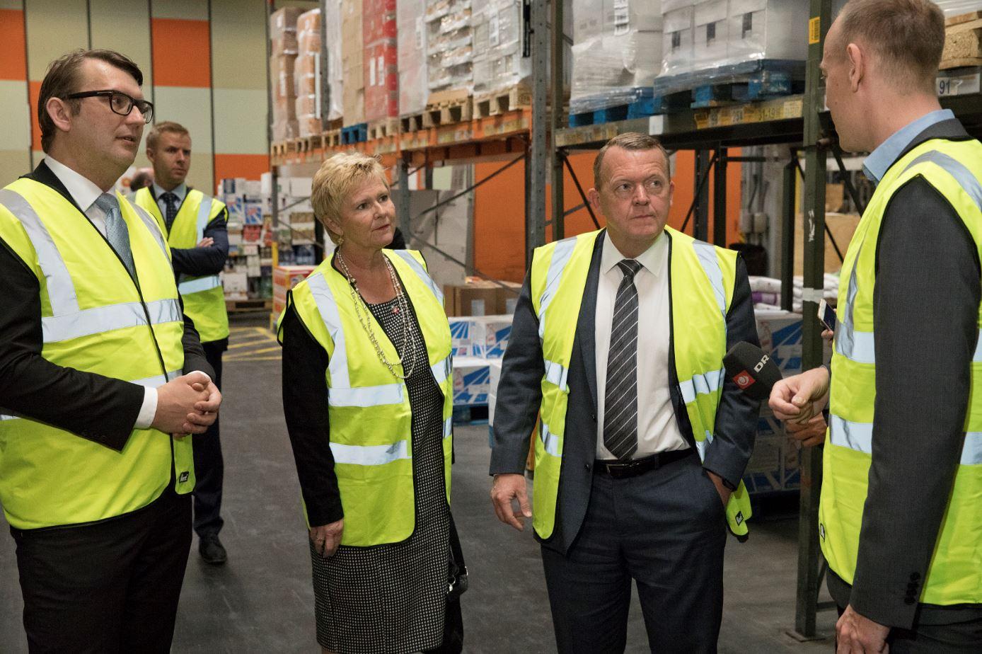 Danish PM visiting Coop