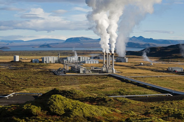 Icelandic geothermal power plant