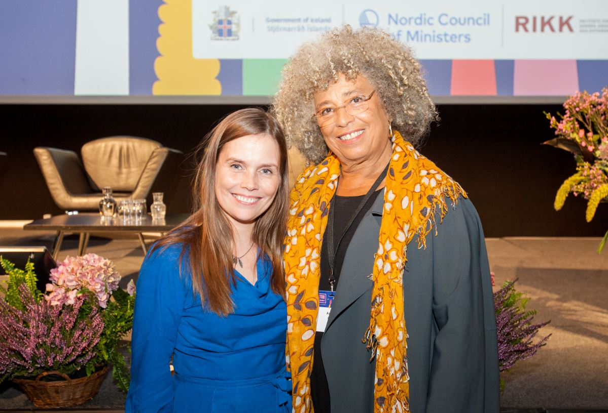Katrín Jakobsdóttir and Angela Davis