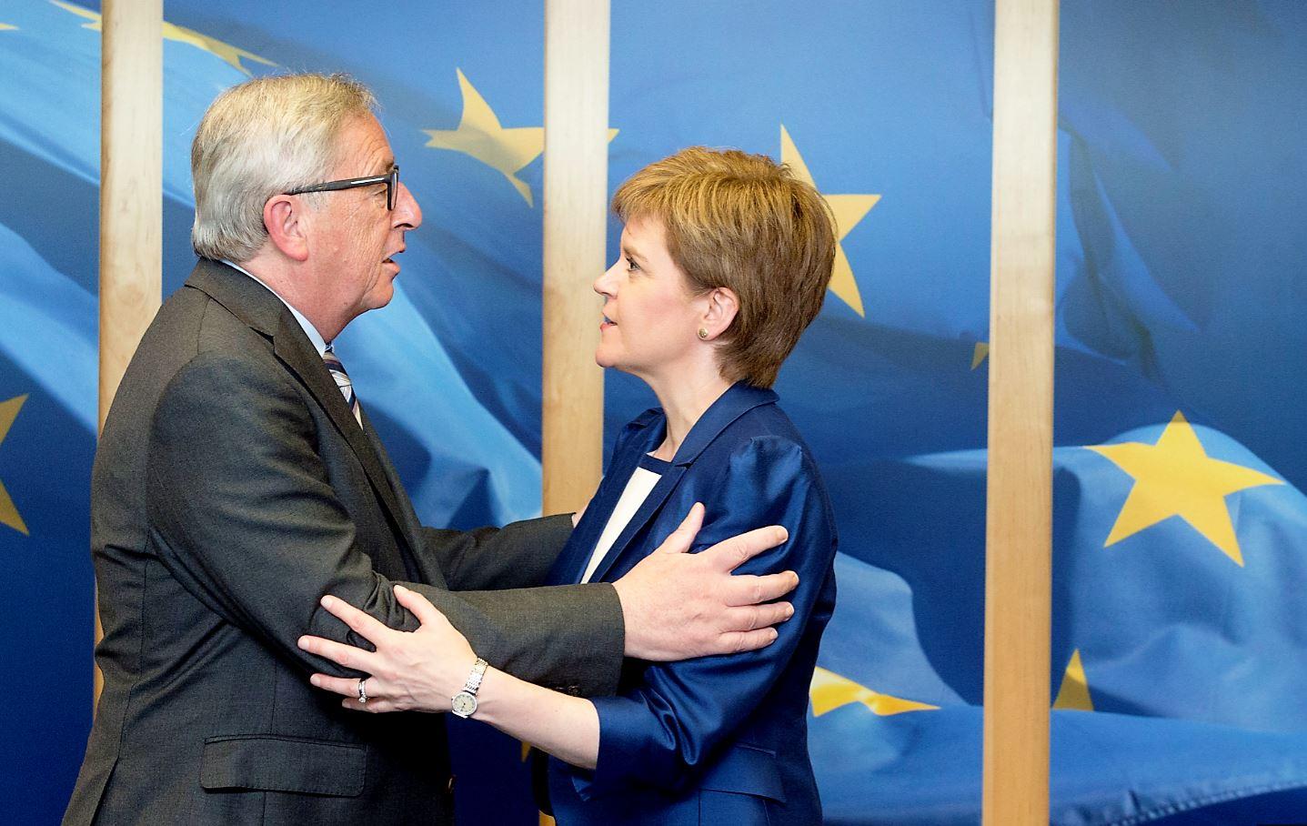 Juncker and Sturgeon