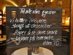 Theatercafeen closed