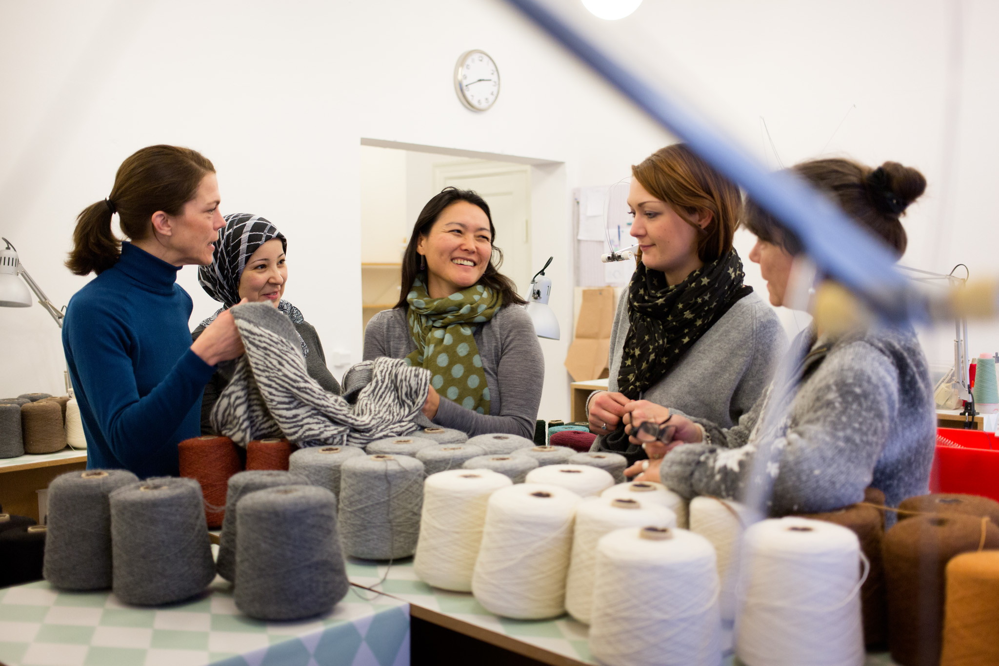 From vulnerable woman to professional knitter