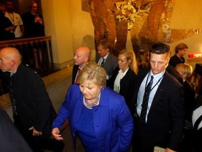 Erna Solberg heads for four more years as Norwegian Prime Minister